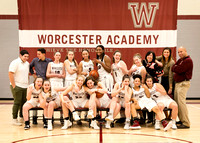WORCESTER ACADEMY GIRLS VARSITY HOOPS TEAM SHOT 2018